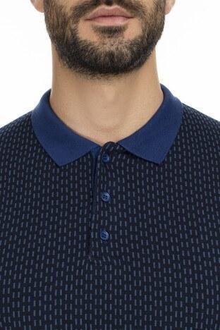 Buratti Düğmeli Yaka Sweat Erkek Polo 456204 İNDİGO
