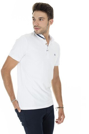 Buratti Düğmeli Yaka T Shirt Erkek Polo 4362081 BEYAZ