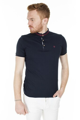 Buratti Düğmeli Yaka T Shirt Erkek Polo 4362081 LACİVERT