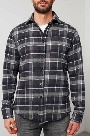Buratti Ekoseli Uzun Kollu Oduncu Erkek Gömlek 5910079 SİYAH