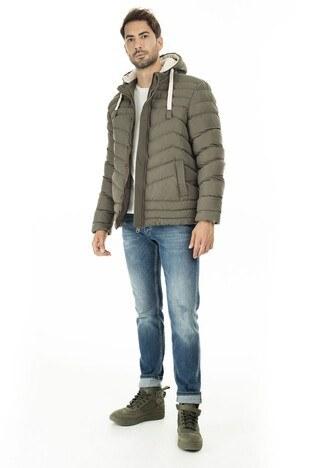 Buratti Ekstra Slim Fit Kapüşonlu Erkek Mont 556B5081 HAKİ
