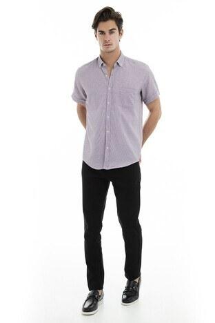 Buratti Erkek Kısa Kollu Gömlek 50132 BORDO