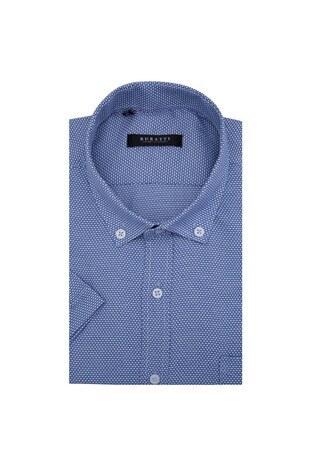 Buratti - Buratti Erkek Kısa Kollu Gömlek 50135 MAVİ