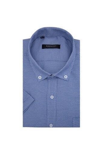 Buratti Erkek Kısa Kollu Gömlek 50135 MAVİ