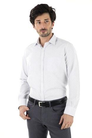 BURATTI Erkek Uzun Kollu Gömlek 1941020 GRİ