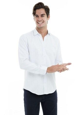 Buratti Erkek Uzun Kollu Gömlek 50108 BEYAZ