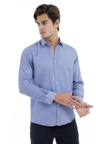 Buratti - Buratti Erkek Uzun Kollu Gömlek 50109 KOYU MAVİ