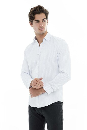 Buratti Erkek Uzun Kollu Gömlek 50121 BEYAZ