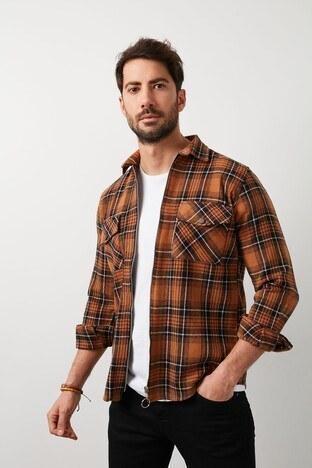 Buratti - Buratti Erkek Gömlek CF21W113291 CAMEL