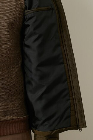 Buratti Fermuarlı Slim Fit Dik Yaka Şişme Erkek Mont 4373142W0 HAKİ