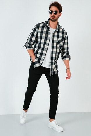 Buratti - Buratti Pamuklu Skinny Fit Dar Paça Jeans Erkek Kot Pantolon 7535E222BARTEZ SİYAH