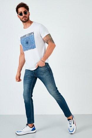Buratti - Buratti Pamuklu Skinny Fit Dar Paça Jeans Erkek Kot Pantolon 7535F240BARTEZ MAVİ