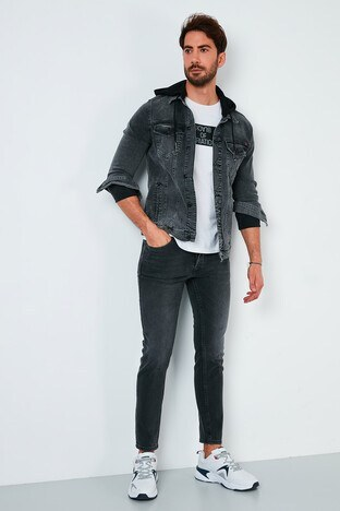 Buratti - Buratti Pamuklu Skinny Fit Dar Paça Jeans Erkek Kot Pantolon 7535S212BARTEZ SİYAH