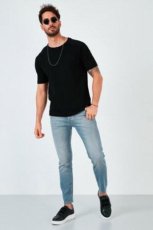 Buratti - Buratti Pamuklu Skinny Fit Dar Paça Jeans Erkek Kot Pantolon 7535U251BARTEZ AÇIK MAVİ