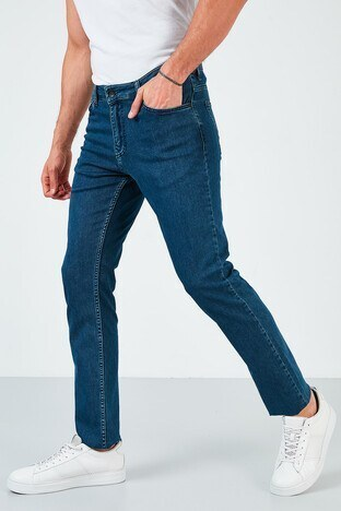 Buratti Pamuklu Slim Fit Dar Paça Jeans Erkek Kot Pantolon 7536H220NEWARTOS KOYU MAVİ