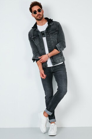 Buratti - Buratti Pamuklu Regular Fit Jeans Erkek Kot Pantolon 7537F203ZAGOR GRİ