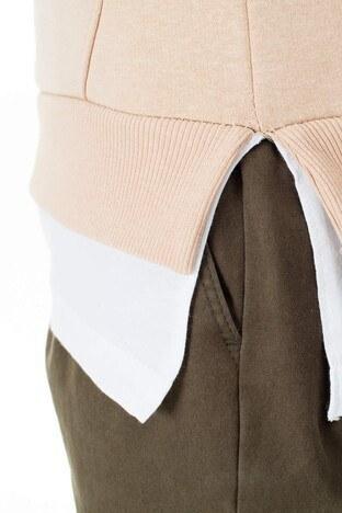 Buratti Kapüşonlu Extra Slim Fit Erkek Sweat 575395 BEJ
