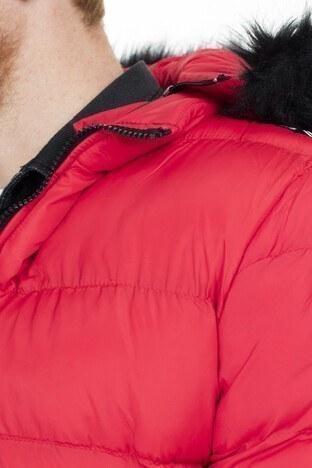 Buratti Kapüşonlu Slim Fit Şişme Erkek Mont 55618K5029 KIRMIZI