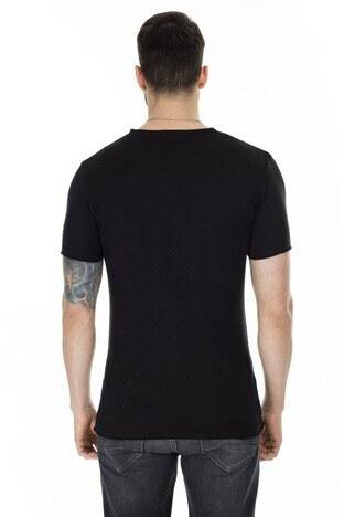 Buratti Kısa Kol Bisiklet Yaka Triko Erkek T Shirt ABK60003LNS SİYAH