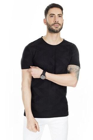 Buratti - Buratti Kısa Kol Triko Erkek T Shirt ABK60002LNS SİYAH