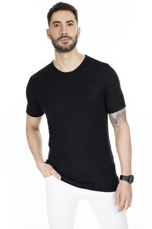 Buratti - Buratti Kısa Kol Triko Erkek T Shirt ABK60008LNS SİYAH