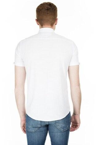 Buratti Kısa Kollu Süper Slim Fit Erkek Gömlek CF20S111153 BEYAZ