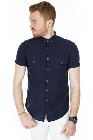 Buratti Kısa Kollu Süper Slim Fit Erkek Gömlek CF20S111153 LACİVERT