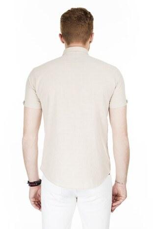 Buratti Kısa Kollu Süper Slim Fit Erkek Gömlek CF20S111153 TAŞ
