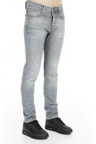 Buratti Normal Bel Dar Kesim Dar Paça Jeans Erkek Kot Pantolon 7195F592ARTOS GRİ