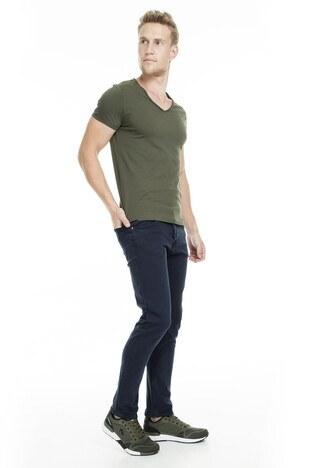 Buratti - Buratti Normal Bel Dar Kesim Dar Paça Jeans Erkek Kot Pantolon 7197F028ARTOS KOYU LACIVERT