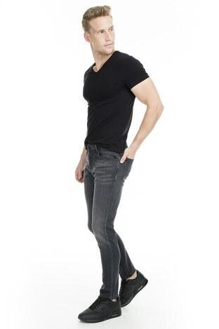 Buratti - Buratti Normal Bel Dar Kesim Dar Paça Jeans Erkek Kot Pantolon B7213H020ARTOS SİYAH
