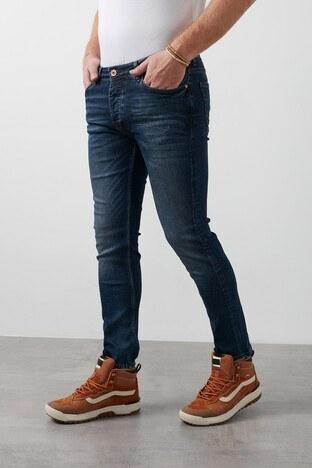 Buratti - Buratti Normal Bel Dar Paça Skinny Jeans Erkek Kot Pantolon 7290F139BARTEZ KOYU MAVİ