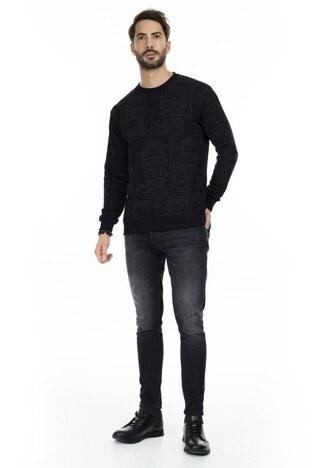 Buratti - Buratti Normal Bel Skinny Dar Paça Jeans Erkek Kot Pantolon 7253G710GHOST SİYAH