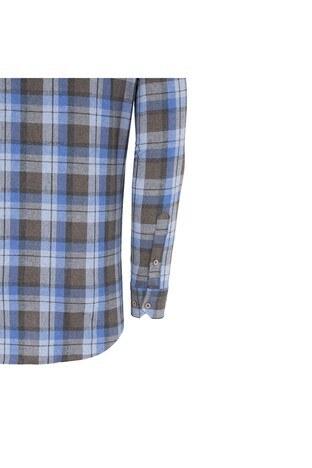 BURATTI ODUNCU Erkek Uzun Kollu Gömlek 1942056 MAVİ