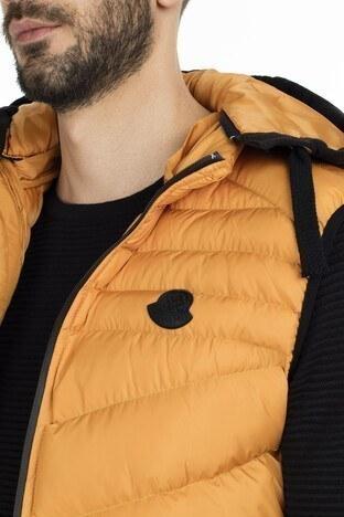 Buratti Önü Fermuarlı Slim Fit Çıkarılabilir Kapüş Erkek Yelek 556B5519 HARDAL