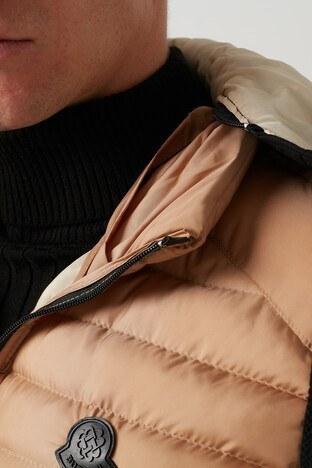 Buratti Önü Fermuarlı Slim Fit Çıkarılabilir Kapüş Erkek Yelek 556B5519 VİZON