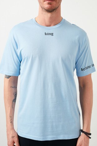 Buratti Erkek T Shirt 5721015 AÇIK MAVİ