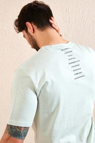 Buratti Oversize Yazı Baskılı Bisiklet Yaka % 100 Pamuk Erkek T Shirt 5721021 ÇAĞLA