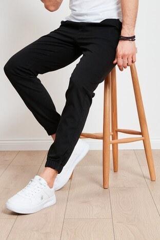Buratti - Buratti Pamuklu Belden Bağlamalı Slim Fit Erkek Pantolon 7512H046JORDAN SİYAH