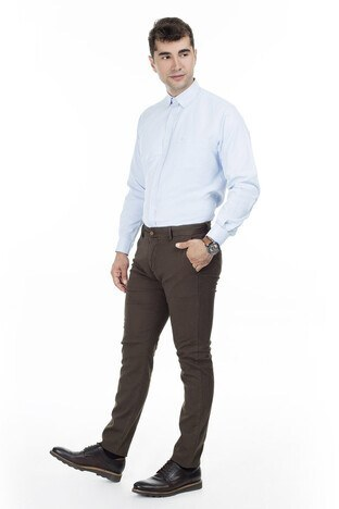 Buratti - Buratti Pamuklu Erkek Pantolon B1018LIZBON AÇIK KAHVE