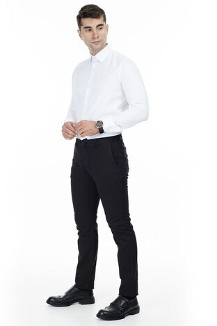 Buratti - Buratti Pamuklu Erkek Pantolon B1018LIZBON SİYAH