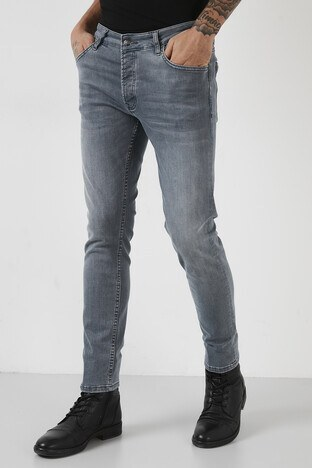 Buratti Pamuklu Normal Bel Slim Fit Dar Paça Jeans Erkek Kot Pantolon 1006S676NAPOLI AÇIK MAVİ