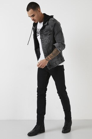 Buratti - Buratti Pamuklu Normal Bel Slim Fit Dar Paça Jeans Erkek Kot Pantolon 1007S270NAPOLI SİYAH