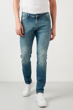 Buratti - Buratti Pamuklu Regular Fit Jeans Erkek Kot Pantolon 7267F195ZAGOR BUZ-MAVİ