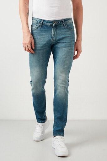 Buratti Pamuklu Regular Fit Jeans Erkek Kot Pantolon 7267F195ZAGOR BUZ-MAVİ