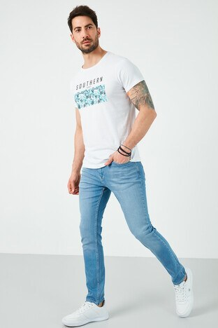 Buratti - Buratti Jeans Erkek Kot Pantolon 7505F2081ZAGOR AÇIK MAVİ