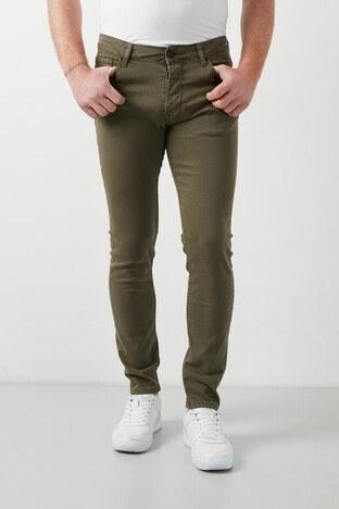 Buratti - Buratti Pamuklu Skinny Fit Dar Paça Jeans Erkek Kot Pantolon 7510E2023BARTEZ HAKİ
