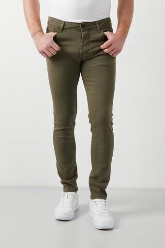 Buratti Pamuklu Skinny Fit Dar Paça Jeans Erkek Kot Pantolon 7510E2023BARTEZ HAKİ
