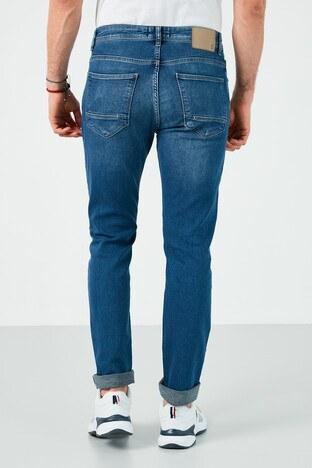 Buratti Pamuklu Slim Fit Dar Paça Jeans Erkek Kot Pantolon 7508E188NEWARTOS MAVİ