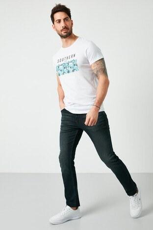 Buratti Pamuklu Slim Fit Dar Paça Jeans Erkek Kot Pantolon 7508H715NEWARTOS LACİVERT